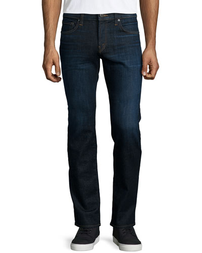 Kane Bellows Straight-Leg Denim Jeans, Dark Blue