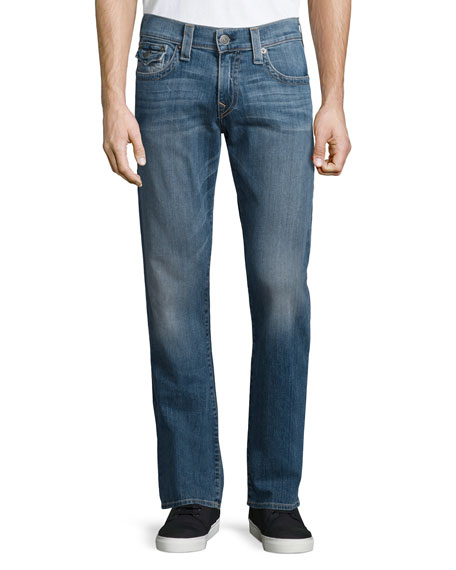 True Religion Ricky Medium-Wash Denim Jeans, Medium Blue