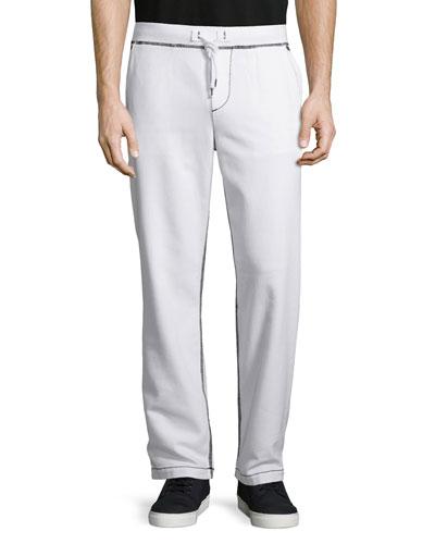Big T Wide-Leg Sweatpants, Optic White