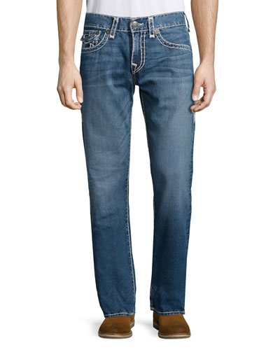 Ricky River Bed Denim Jeans, Mid Blue