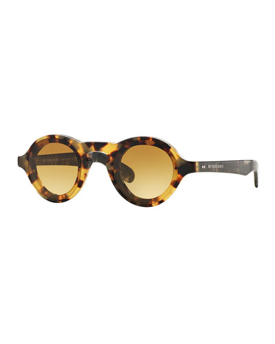 Men's Round Sunglasses, Honey Horn