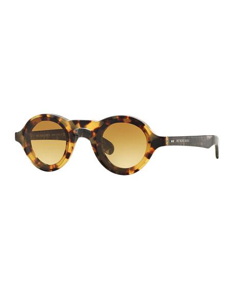 burberry mens sunglasses dpd5  BurberryMen's Round Sunglasses, Honey Horn