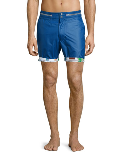 Disembark Solid Swim Trunks, Marine