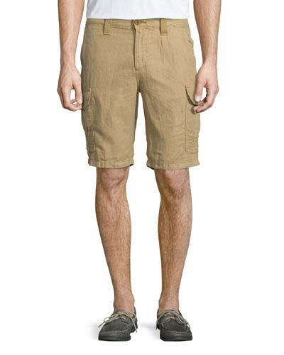 McAllister Linen-Blend Cargo Shorts