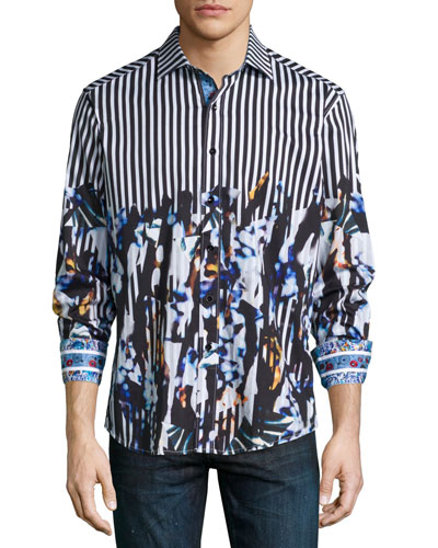 Cayman Island Multi-Print Sport Shirt
