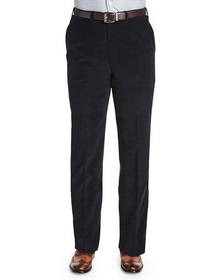 Brioni Pinwale Corduroy Trousers, Black