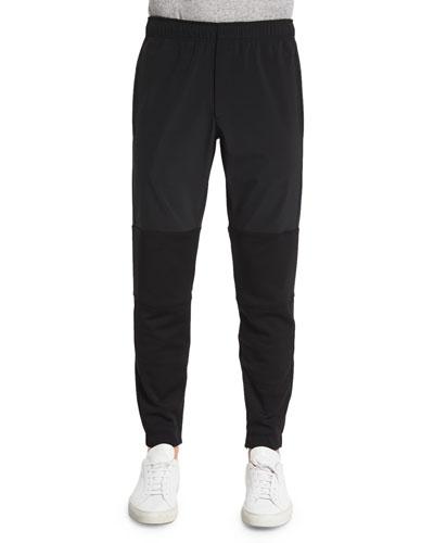 Dryden Two-Tone Jogger Pants, Black