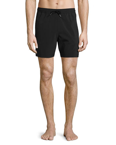 Cosmos Solid Swim Trunks, Black