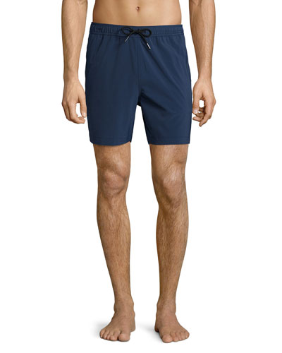 Cosmos Solid Swim Trunks, Dusk