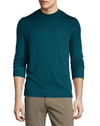 Remsey Dip-Dye Crewneck Sweater, Plankton Multi
