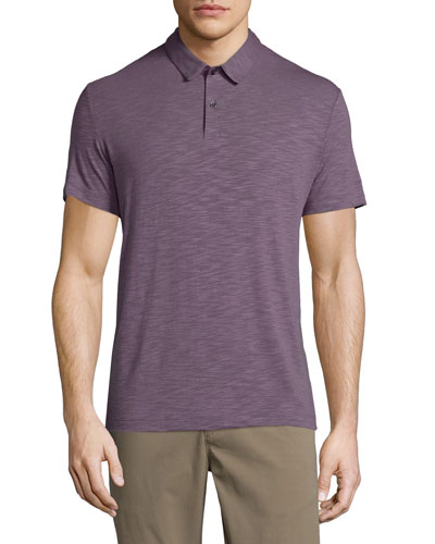 Bron Short-Sleeve Jersey Polo Shirt, Grist