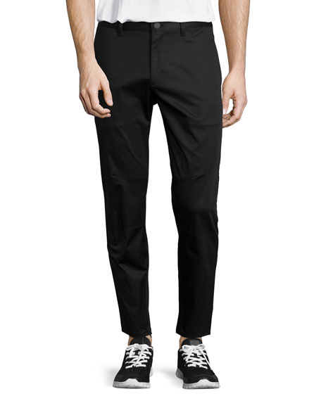 Theory Zaine Slim Straight-Leg Pants, Black