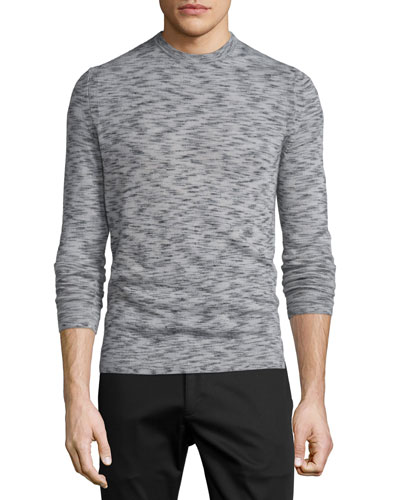 Theory Vetel Space-Dyed Cashmere Sweater, Charcoal