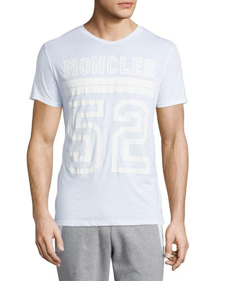 Moncler Logo-Graphic Short-Sleeve T-Shirt, White