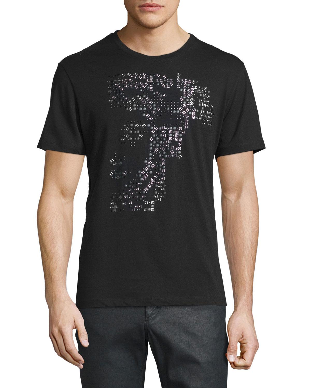 3d14912860c Versace Collection Embellished Medusa Short-Sleeve T-Shirt