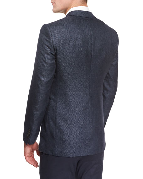 Burberry Millbank Textured Wool-Blend Sport Coat, Navy