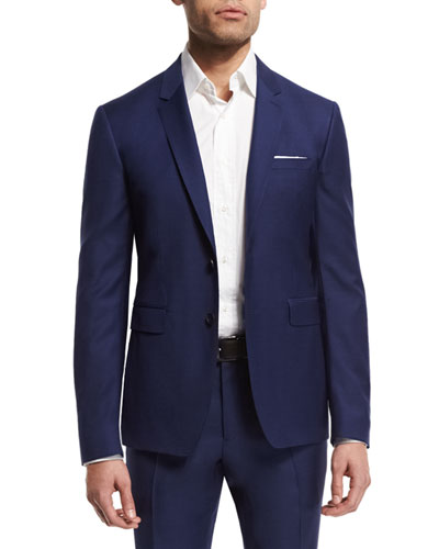 Stirling Two-Piece Wool Suit, Bright Navy