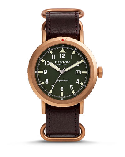 Filson 45.5 Scout Watch with Leather Strap