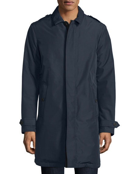 Burberry Kensworth Reversible Single-Breasted Jacket, Navy