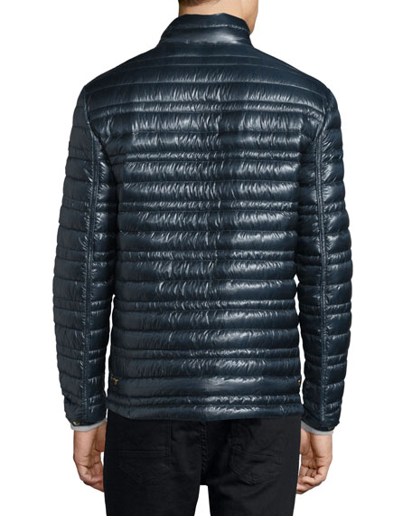 Burberry Torford Lightweight Quilted Down Jacket, Navy