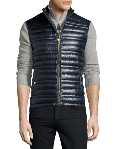 Trowby Lightweight Quilted Down Vest, Navy