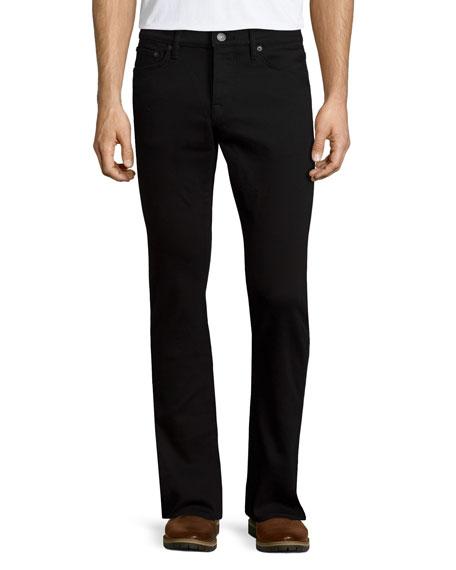 Burberry Five-Pocket Straight-Leg Denim Jeans, Black