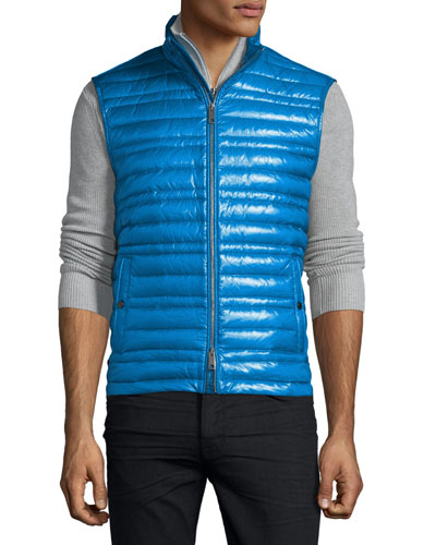 Trowby Lightweight Quilted Down Vest, Blue Azure