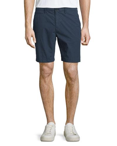 Flat-Front Chino Shorts, Indigo
