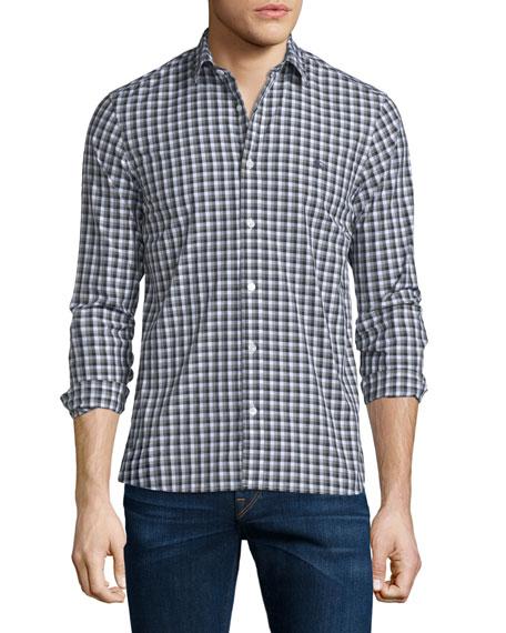Burberry Brit Garrison Gingham Long-Sleeve Sport Shirt, Mid