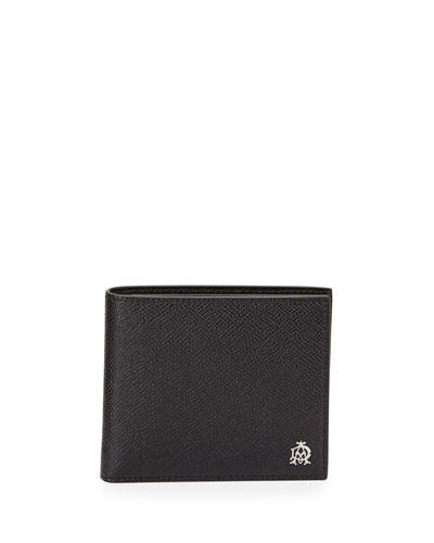 Bourdon Leather Bi-Fold Wallet, Black
