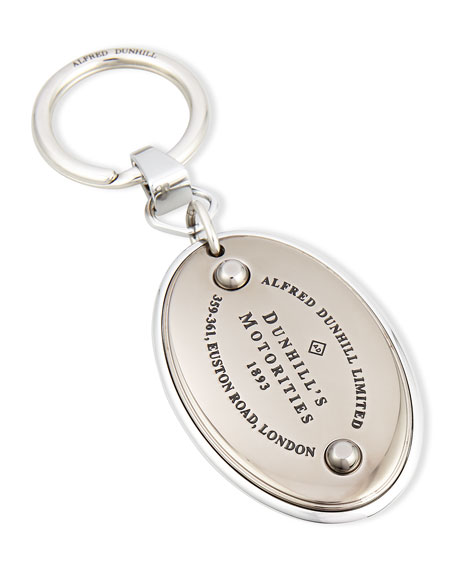 Alfred Dunhill KC Motorities Metal Key Chain, Silver
