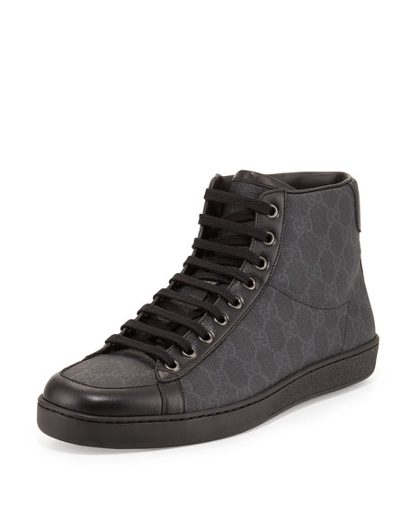 Gucci Brooklyn GG Supreme High-Top Sneaker, Black