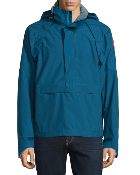 Brunswick Hooded Anorak Jacket, Midnight Blue