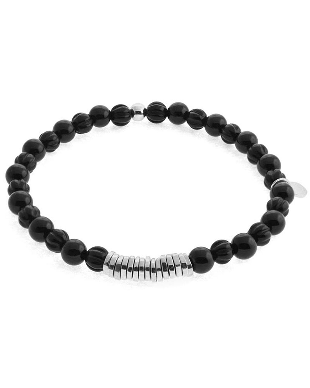 Tateossian Mens Sterling Silver Disc Bead Bracelet ZLQuHhvU9Y