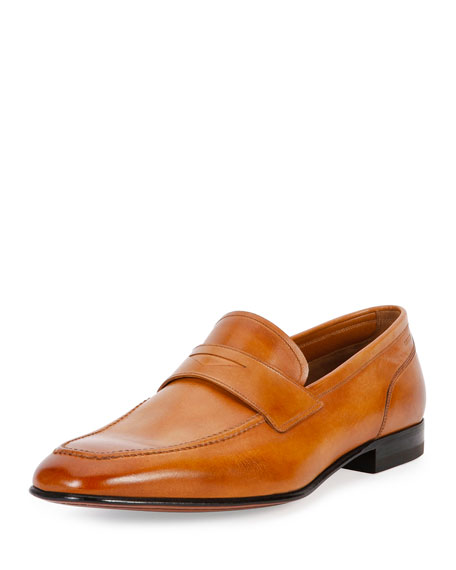 Bally Brent Leather Penny Loafer, Brown