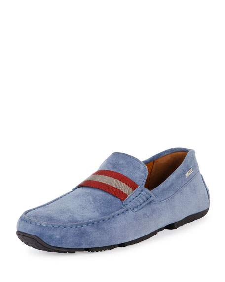 Bally Pearce Suede Driver, Blue