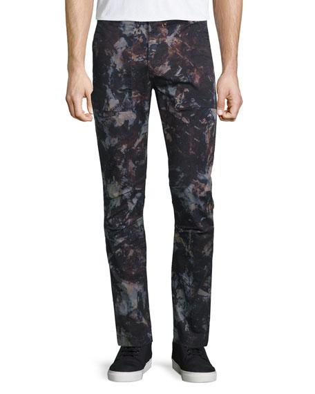 J Brand Jeans Hydrox Tie-Dye Printed Stretch Pants,