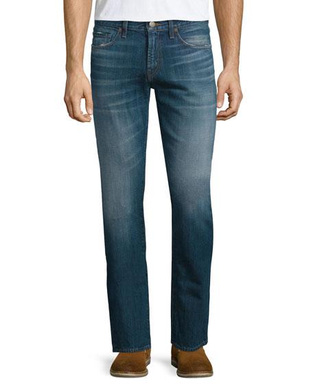 J Brand Jeans Kane Straight-Leg Washed Denim Jeans,