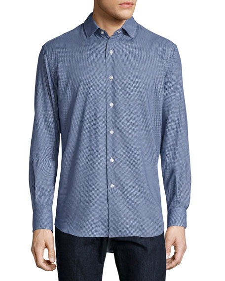 Culturata Mini Dot-Print Sport Shirt, Blue