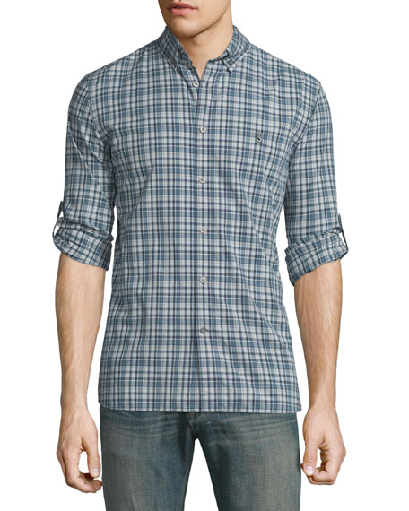 John Varvatos Star USA Slim-Fit Plaid Sport Shirt