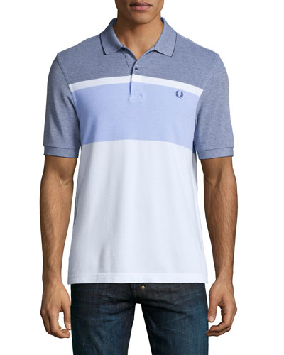 Colorblock Short-Sleeve Polo Shirt, Multi