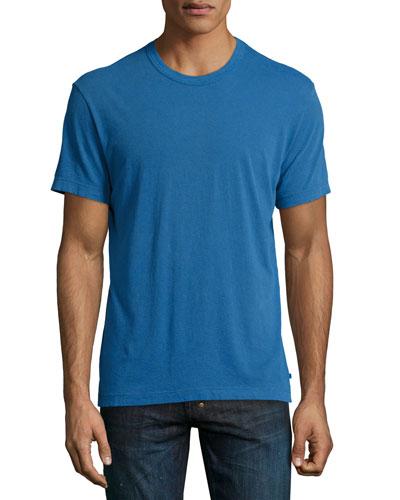 Cotton Crewneck Tee, Pilot (Blue)