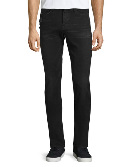 FRAME DENIM L'Homme Distressed Skinny-Leg Jeans, Chimney Rock