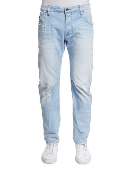 G-Star Arc 3D Slim-Fit Denim Jeans, Light Blue