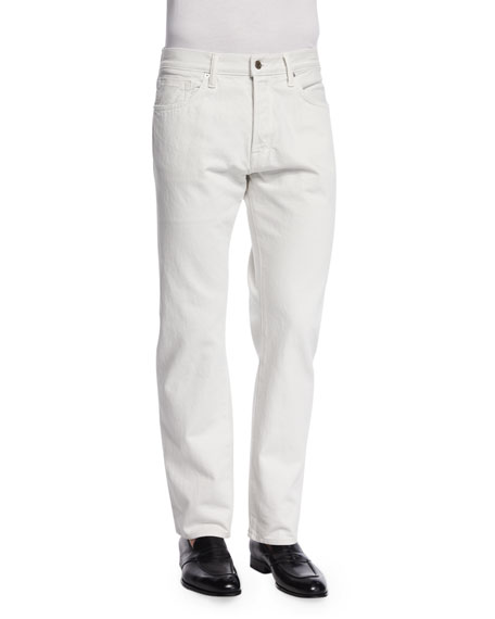 TOM FORD Regular Fit Denim Jeans, White