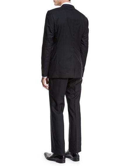 ee27165ec Gucci Brera Solid Two-Piece Wool Suit, Black