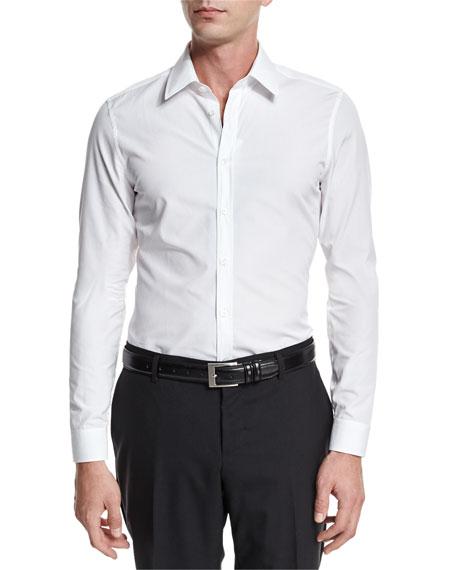 Gucci Basic Slim-Fit Woven Dress Shirt, White