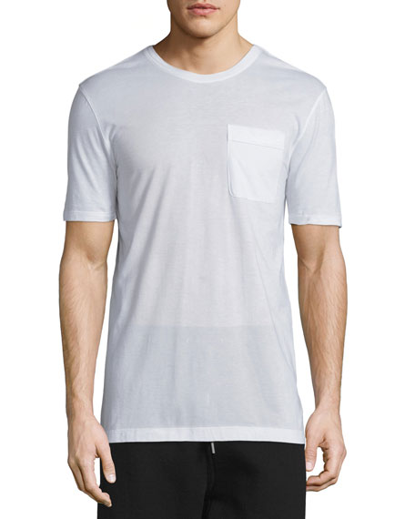 Helmut Lang Oversized Short-Sleeve Jersey T-Shirt, Optic White