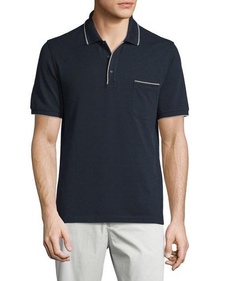 Loro Piana Regatta Short-Sleeve Pique Polo Shirt