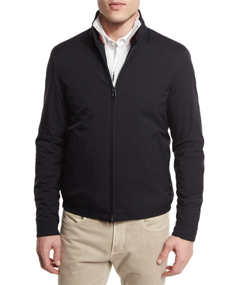 Roadster Pebble Beach Zip-Up Jacket, Blue Navy